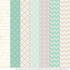 Pattern Zoo Mint Patterned Owl Clipart & Patterns