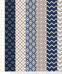 Pattern Zoo Navy Patterned Owl Clipart & Patterns