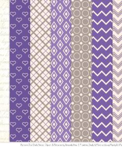Pattern Zoo Purple Patterned Owl Clipart & Patterns