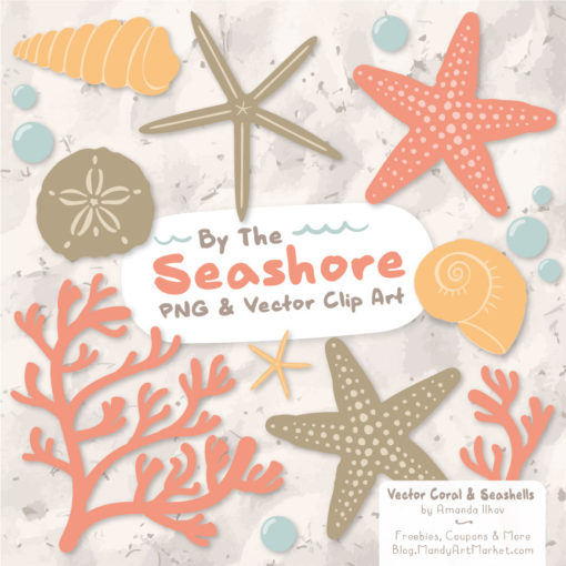 Antique Peach Seashell Clipart
