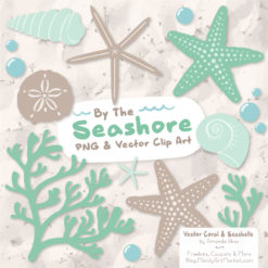 Mint Seashell Clipart