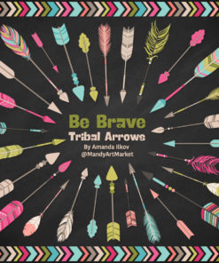 Bohemian Tribal Arrows Clipart