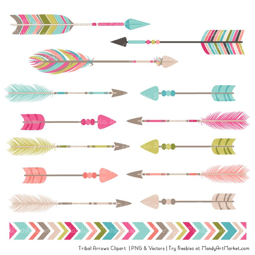 bohemian tribal arrows clipart rh mandyartmarket com arrow clip art free images arrow clip art black and white