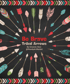Cherry Bomb Tribal Arrows Clipart