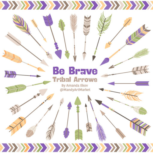 Crocus Tribal Arrows Clipart