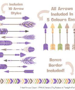 Crocus Tribal Arrows Clipart