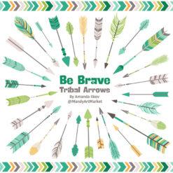 Emerald Isle Tribal Arrows Clipart
