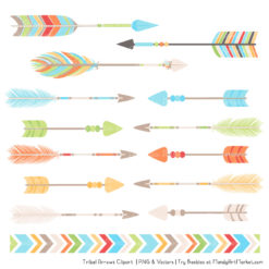 Fresh Boy Tribal Arrows Clipart
