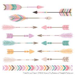 Garden Party Tribal Arrows Clipart