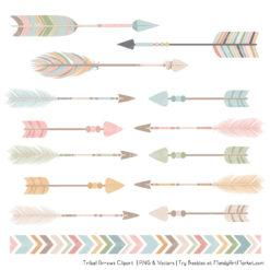 Grandmas Garden Tribal Arrows Clipart
