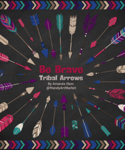 Jewel Tribal Arrows Clipart