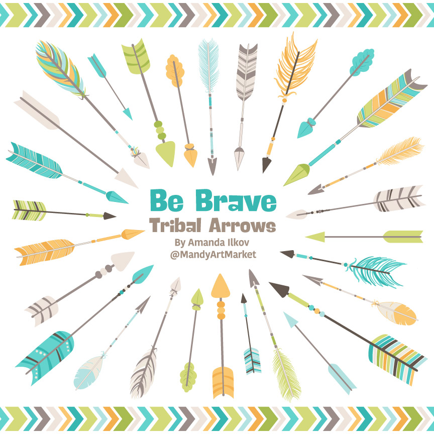 Land & Sea Tribal Arrows Clipart