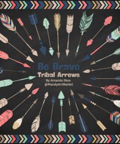 Modern Chic Tribal Arrows Clipart