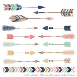 Modern Chic Tribal Arrows Clipart