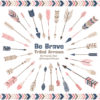 Navy & Blush Tribal Arrows Clipart