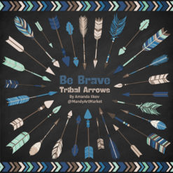 Navy & Mint Tribal Arrows Clipart
