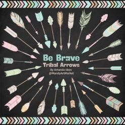 Pastel Tribal Arrows Clipart