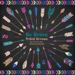 Peacock Tribal Arrows Clipart