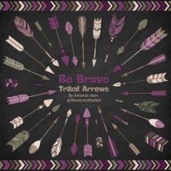 Plum Tribal Arrows Clipart