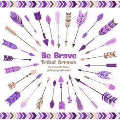Purple Tribal Arrows Clipart