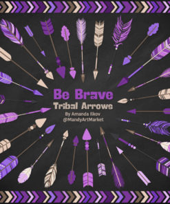 Purple Tribal Arrows Clipart