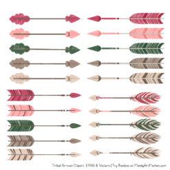 Rose Garden Tribal Arrows Clipart