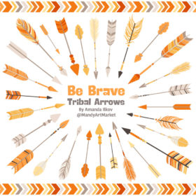 Sunshine Tribal Arrows Clipart