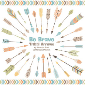 Vintage Boy Tribal Arrows Clipart