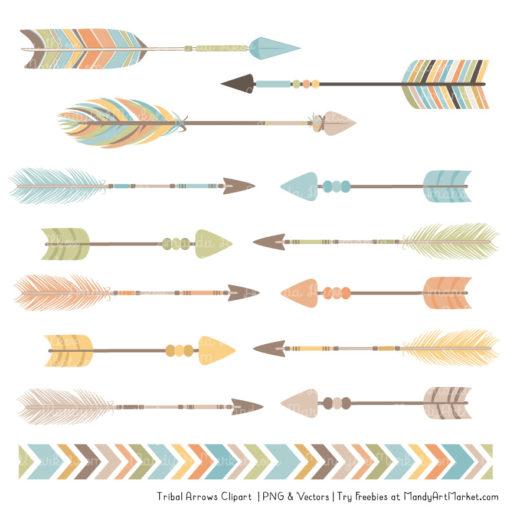Vintage Boy Tribal Arrows Clipart