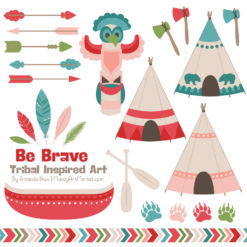 Cherry Bomb Tribal Clipart