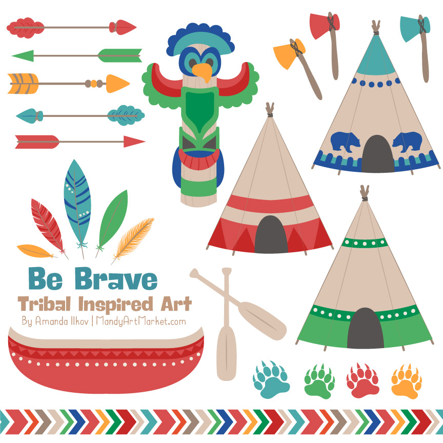 crayon box boy tribal clipart rh mandyartmarket com tribal clipart free tribal clipart free