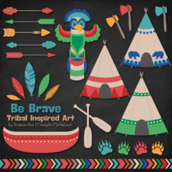 Crayon Box Boy Tribal Clipart