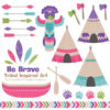 Crayon Box Girl Tribal Clipart