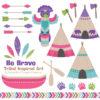 Crayon Box Girl Tribal Clipart