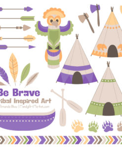 Crocus Tribal Clipart