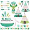Emerald Isle Tribal Clipart