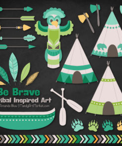 Emerald Isle Tribal Clipart