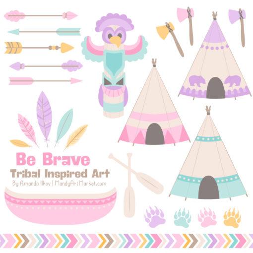 Fresh Girl Tribal Clipart