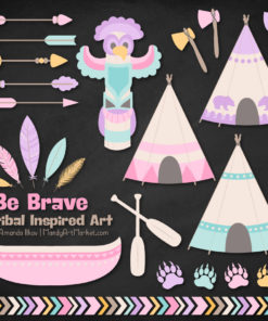 Fresh Girl Tribal Clipart