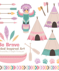 Garden Party Tribal Clipart