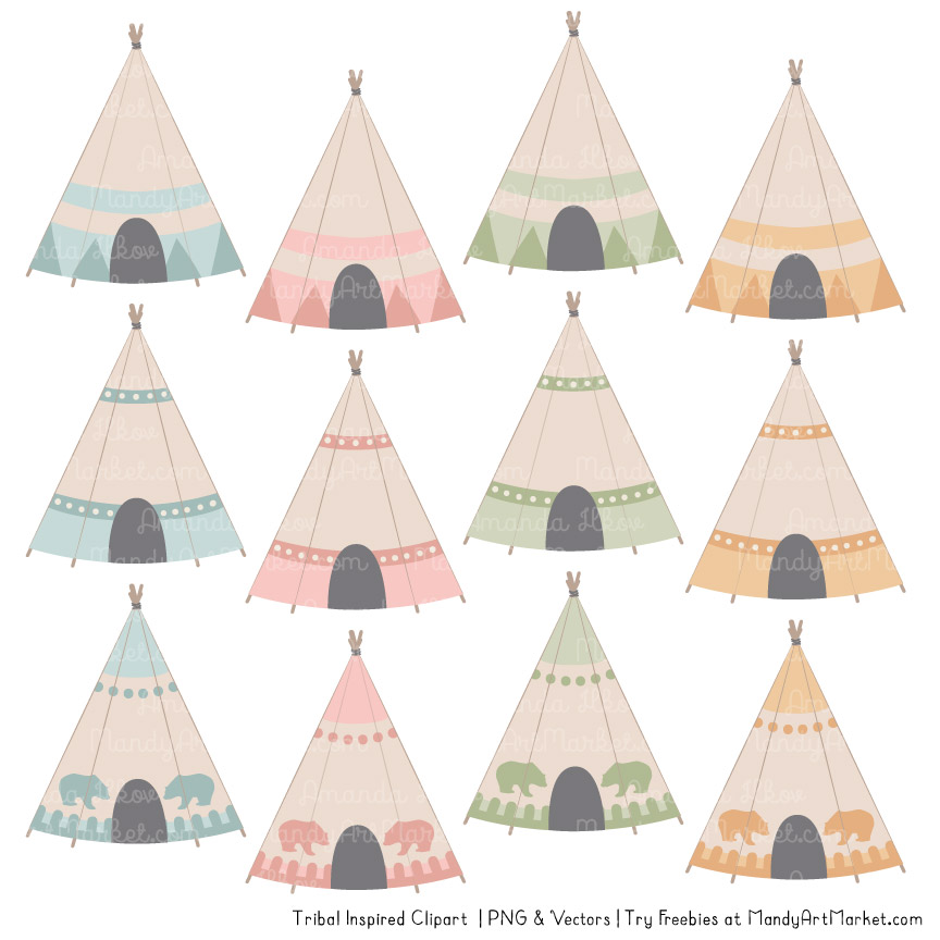 Grandmas Garden Tribal Clipart