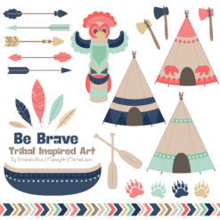 Modern Chic Tribal Clipart