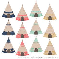 Modern Chic Tribal Clipart