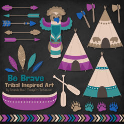 Peacock Tribal Clipart
