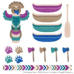 Peacock Tribal Clipart