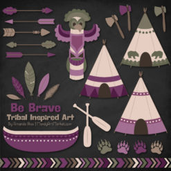 Plum Tribal Clipart