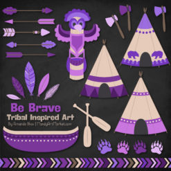 Purple Tribal Clipart