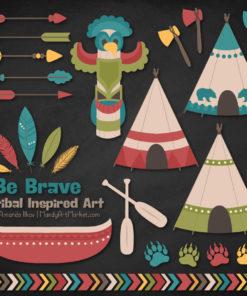 Retro Bold Tribal Clipart