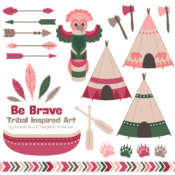 Rose Garden Tribal Clipart