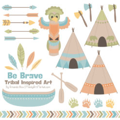 Vintage Boy Tribal Clipart